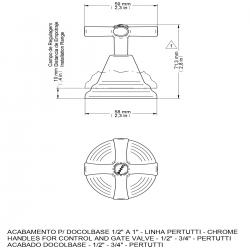 Acabamento Registro Docol Pertutti  ( Base deca) 1/2'' X 1''  (Original)